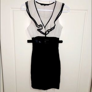Urban Behaviour S Black White Blouse Skirt Dress